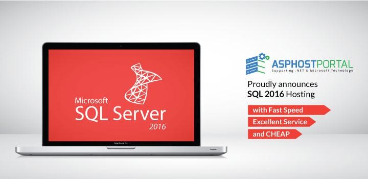 SQL Server 2016 Hosting Recommendation